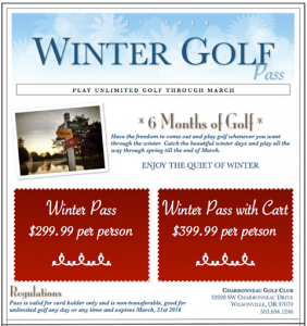 Winter Golf Charbonneau Golf Club