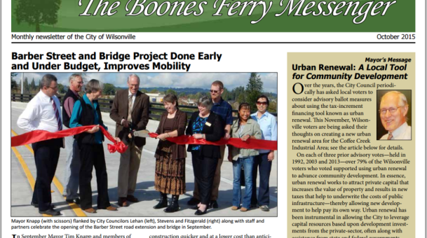 October Boones Ferry Messenger is Online