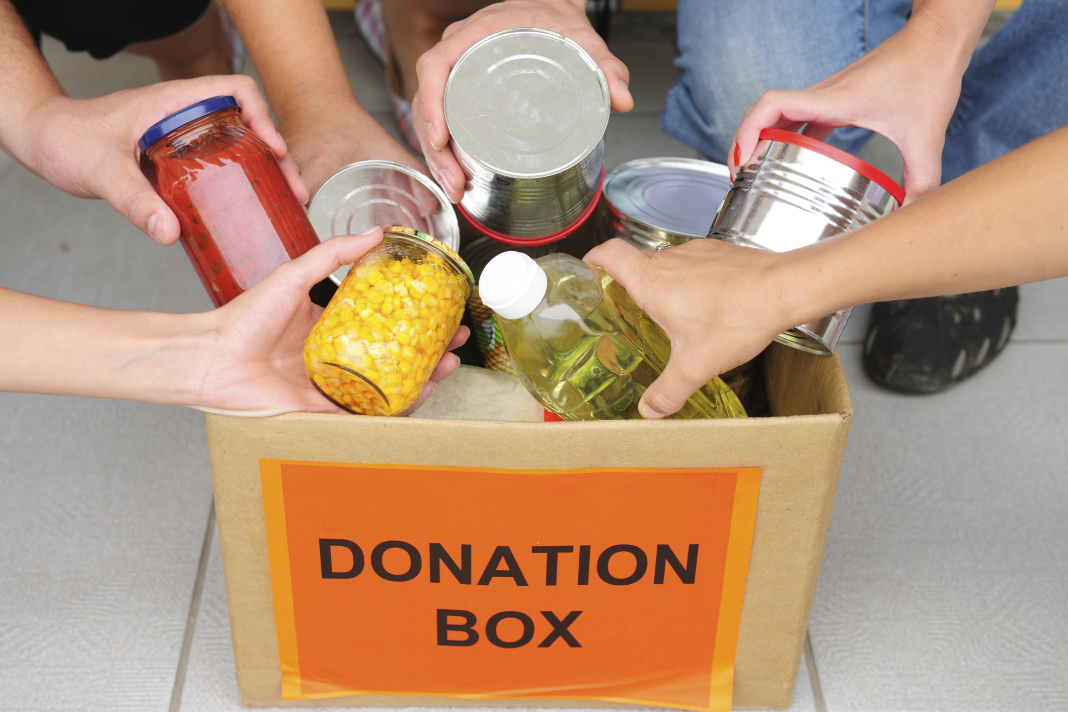 """February is """"Food for Fines Month"""" at the Wilsonville Library."""