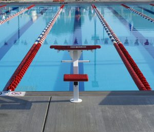 Swimming lane prepared for competition