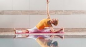Pilates in the Pool at Charbonneau Rec Hall C. June 29 – Aug 26th.