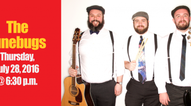 Summer Concert Series continues with the June Bugs & Ani Bani.  July 28th Begins at 5:30pm.