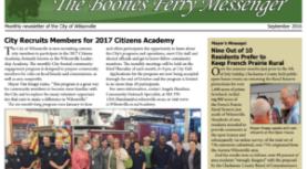 September Boones Ferry Messenger is online