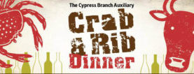 Boys & Girls, Cypress Auxiliary News.  January 2017.  Mark Your Calendars for the annual Crab & Rib Dinner & Silent Auction, March 4th 2017!