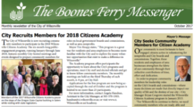 Boones Ferry Messenger – October 2017