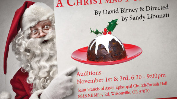 """A Christmas Pudding"" Dec 18 & 19th. 7:30pm at CCC."