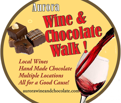 Aurora Wine & Chocolate Walk. Dec 2 & 3.  Don't Miss it!