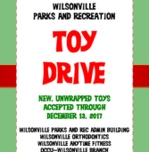 Wilsonville Toy Drive.  Through Dec 13th.