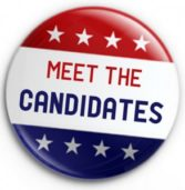 REMINDER:  Get to know your candidates. 6:30pm on April 26 at CCC