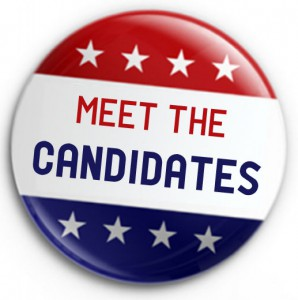 Get to know your candidates. 6:30pm on April 26 at CCC