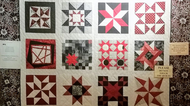"QUILT SHOW: Old Aurora Colony Museum Will Be ""Seeing Stars"" October 12-21"