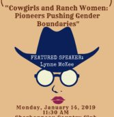 "CWA January 14th Luncheon:  ""Cowgirls & Ranch Women"""