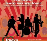 First Thursday Music at Trudy's Living Room.  5-8pm