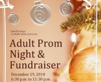 """Don't Miss.  J.U.G. """"Adult Prom Night"""" Fundraiser for our local community. Dec 19th."""