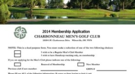 2014 Men's Club Membership Form is available.
